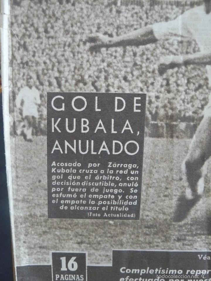 Coleccionismo deportivo: VIDA DEPORTIVA - GOL DE KUBALA ANULADO - 1957 - Foto 3 - 57451495
