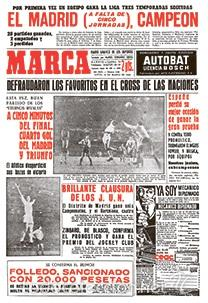 DIARIO MARCA REAL MADRID CAMPEON LIGA 62/63 COPIA FACSIMIL TEMPORADA 1962/1963 - 32 LIGAS BLANCAS (Coleccionismo Deportivo - Revistas y Periódicos - Marca)