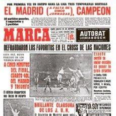 Coleccionismo deportivo: DIARIO MARCA REAL MADRID CAMPEON LIGA 62/63 COPIA FACSIMIL TEMPORADA 1962/1963 - 32 LIGAS BLANCAS. Lote 57567026