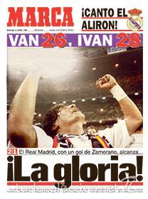 DIARIO MARCA REAL MADRID CAMPEON LIGA 94/95 COPIA FACSIMIL TEMPORADA 1994/1995 - 32 LIGAS BLANCAS (Coleccionismo Deportivo - Revistas y Periódicos - Marca)