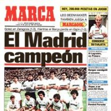 Coleccionismo deportivo: DIARIO MARCA REAL MADRID CAMPEON LIGA 86/87 COPIA FACSIMIL TEMPORADA 1986/1987 - 32 LIGAS BLANCAS. Lote 57568875