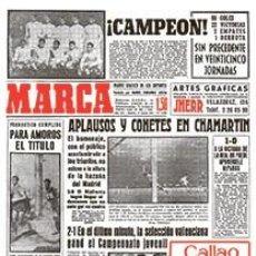 Coleccionismo deportivo: DIARIO MARCA REAL MADRID CAMPEON LIGA 60/61 COPIA FACSIMIL TEMPORADA 1960/1961 - 32 LIGAS BLANCAS. Lote 57568949