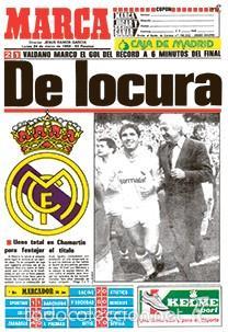 DIARIO MARCA REAL MADRID CAMPEON LIGA 85/86 COPIA FACSIMIL TEMPORADA 1985/1986 - 32 LIGAS BLANCAS (Coleccionismo Deportivo - Revistas y Periódicos - Marca)