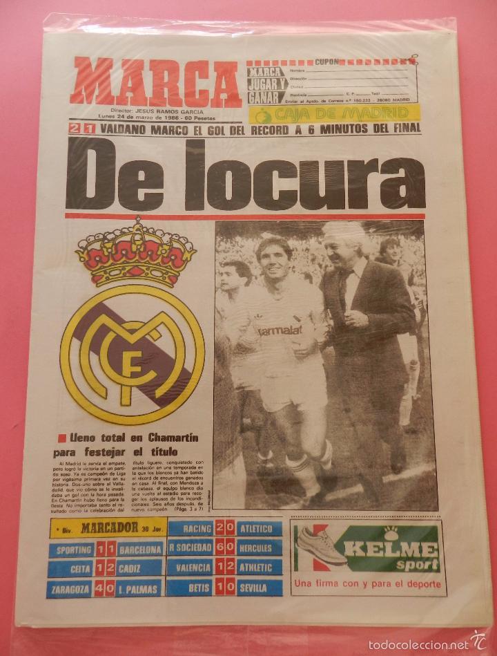 Coleccionismo deportivo: DIARIO MARCA REAL MADRID CAMPEON LIGA 89/90 COPIA FACSIMIL TEMPORADA 1989/1990 - 32 LIGAS BLANCAS - Foto 2 - 107676260