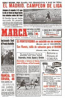 DIARIO MARCA REAL MADRID CAMPEON LIGA 63/64 COPIA FACSIMIL TEMPORADA 1963/1964 - 32 LIGAS BLANCAS (Coleccionismo Deportivo - Revistas y Periódicos - Marca)