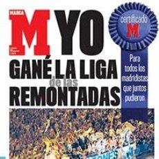 Coleccionismo deportivo: DIARIO MARCA REAL MADRID CAMPEON LIGA 06/07 COPIA FACSIMIL TEMPORADA 2006/2007 - 32 LIGAS BLANCAS. Lote 57569267