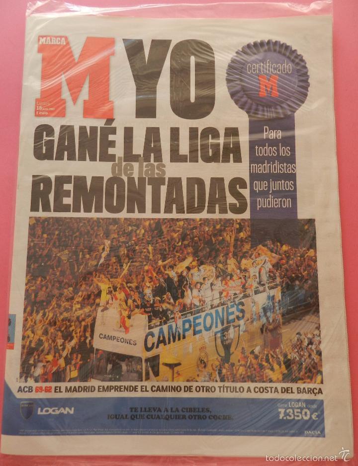 Coleccionismo deportivo: DIARIO MARCA REAL MADRID CAMPEON LIGA 06/07 COPIA FACSIMIL TEMPORADA 2006/2007 - 32 LIGAS BLANCAS - Foto 2 - 57569267