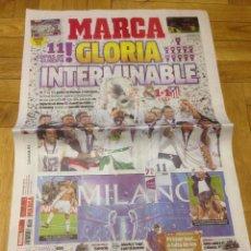 Coleccionismo deportivo: DIARIO MARCA FINAL CHAMPIONS MILAN ATLETICO MADRID REAL MADRID 29 MAYO 2016 CAMPEON REAL MADRID. Lote 57594548
