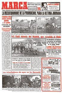 DIARIO MARCA REAL MADRID CAMPEON LIGA 54/55 FACSIMIL TEMPORADA 1954/1955 - 32 LIGAS BLANCAS (Coleccionismo Deportivo - Revistas y Periódicos - Marca)