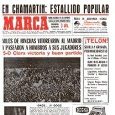 Coleccionismo deportivo: DIARIO MARCA REAL MADRID CAMPEON LIGA 66/67 FACSIMIL TEMPORADA 1966/1967 - 32 LIGAS BLANCAS. Lote 57626648