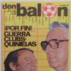 Coleccionismo deportivo: REVISTA DON BALON Nº 222 DEL 8 AL 4 ENERO 1980 POSTER R.MADRID Y F.C BARCELONA. Lote 57628412