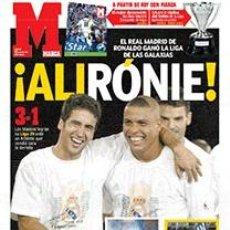 Coleccionismo deportivo: DIARIO MARCA REAL MADRID CAMPEON LIGA 02/03 REPLICA FACSIMIL TEMPORADA 2002/2003 - 32 LIGAS BLANCAS. Lote 57648438