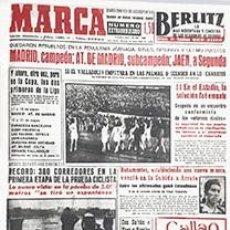Coleccionismo deportivo: DIARIO MARCA REAL MADRID CAMPEON LIGA 57/58 REPLICA FACSIMIL TEMPORADA 1957/1958 - 32 LIGAS BLANCAS. Lote 57648461