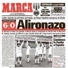 Coleccionismo deportivo: DIARIO MARCA REAL MADRID CAMPEON LIGA 87/88 REPLICA FACSIMIL TEMPORADA 1987/1988 - 32 LIGAS BLANCAS. Lote 57648480