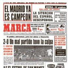 Coleccionismo deportivo: DIARIO MARCA REAL MADRID CAMPEON LIGA 68/69 REPLICA FACSIMIL TEMPORADA 1968/1969 - 32 LIGAS BLANCAS. Lote 57648512
