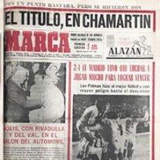 Coleccionismo deportivo: DIARIO MARCA REAL MADRID CAMPEON LIGA 67/68 REPLICA FACSIMIL TEMPORADA 1967/1968 - 32 LIGAS BLANCAS. Lote 57648572