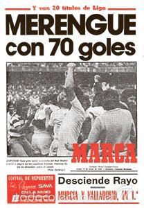 DIARIO MARCA REAL MADRID CAMPEON LIGA 79/80 REPLICA FACSIMIL TEMPORADA 1979/1980 - 32 LIGAS BLANCAS (Coleccionismo Deportivo - Revistas y Periódicos - Marca)