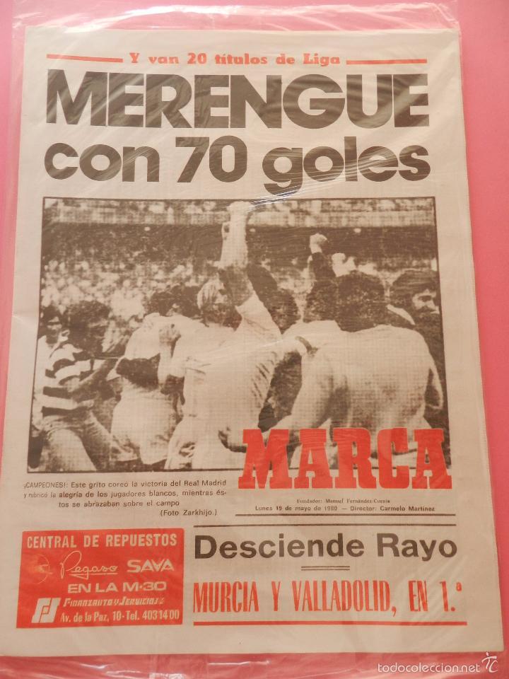Coleccionismo deportivo: DIARIO MARCA REAL MADRID CAMPEON LIGA 79/80 REPLICA FACSIMIL TEMPORADA 1979/1980 - 32 LIGAS BLANCAS - Foto 2 - 57648614