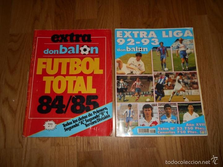 EXTRA DON BALON. FUTBOL TOTAL 84/85 TODOS DATOS DE 1º 2º 2ºB Y 3º DIVISION REGALO EXTRA LIGA 92 93 (Coleccionismo Deportivo - Revistas y Periódicos - Don Balón)