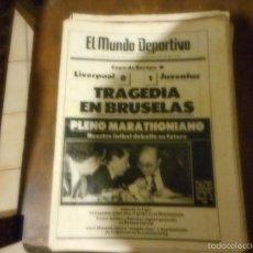 Coleccionismo deportivo: 19350 30 MAYO FINAL COPA EUROPA TRAGEDIA EN BRUSELAS. Lote 57655090