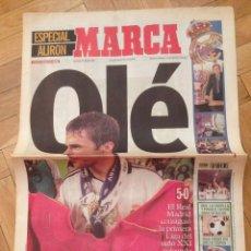 Coleccionismo deportivo: DIARIO MARCA 27 MAYO 2001 ESPECIAL ALIRON FINAL LIGA ESPAÑOLA REAL MADRID CAMPEON. Lote 57681898