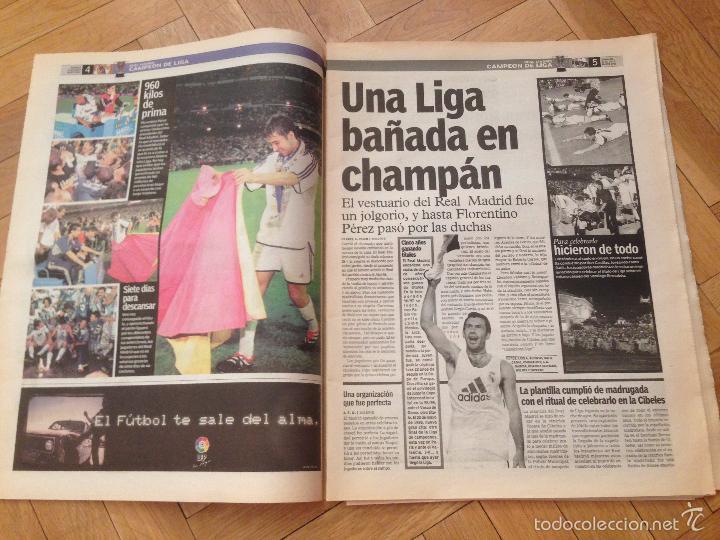 Coleccionismo deportivo: DIARIO MARCA 27 MAYO 2001 ESPECIAL ALIRON FINAL LIGA ESPAÑOLA REAL MADRID CAMPEON - Foto 3 - 57681898
