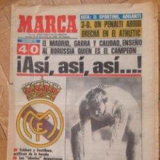 Coleccionismo deportivo: DIARIO MARCA 12 DICIEMBRE 1985 REAL MADRID BORUSSIA MONCHENGLADBACH SPORTING PORTUGAL ATHLETIC. Lote 57681945