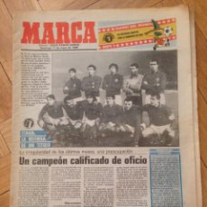 Coleccionismo deportivo: DIARIO DEL MUNDIAL MEXICO 86 MARCA 11 MAYO 1986 ITALIA ARGENTINA BULGARIA. Lote 57693894