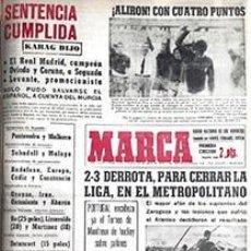 Coleccionismo deportivo: DIARIO MARCA REAL MADRID CAMPEON LIGA 64/65 REPLICA FACSIMIL TEMPORADA 1964/1965 - 32 LIGAS BLANCAS. Lote 57700458