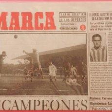 Coleccionismo deportivo: DIARIO MARCA REAL MADRID CAMPEON PRIMERA LIGA 31/32 FACSIMIL TEMPORADA 1931/1932 - 32 LIGAS BLANCAS. Lote 57700676