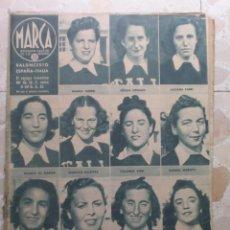 Coleccionismo deportivo: MARCA.SEMANARIO GRÁFICO DE LOS DEPORTES.AÑO V. MADRID, 4 DE AGOSTO DE 1942.Nº 182. Lote 57733520