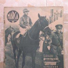 Coleccionismo deportivo: MARCA.SEMANARIO GRÁFICO DE LOS DEPORTES.AÑO V. MADRID, 11 DE AGOSTO DE 1942.Nº 183. Lote 57733551