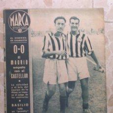 Coleccionismo deportivo: MARCA.SEMANARIO GRÁFICO DE LOS DEPORTES.AÑO V. MADRID, 27 DE OCTUBRE DE 1942.Nº 194. Lote 57734064