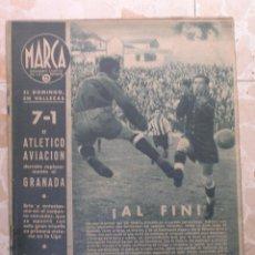 Coleccionismo deportivo: MARCA.SEMANARIO GRÁFICO DE LOS DEPORTES.AÑO V. MADRID, 3 DE NOVIEMBRE DE 1942.Nº 195. Lote 57734106