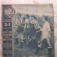 Coleccionismo deportivo: MARCA.SEMANARIO GRÁFICO DE LOS DEPORTES.AÑO V. MADRID, 10 DE NOVIEMBRE DE 1942.Nº 196. Lote 57734128