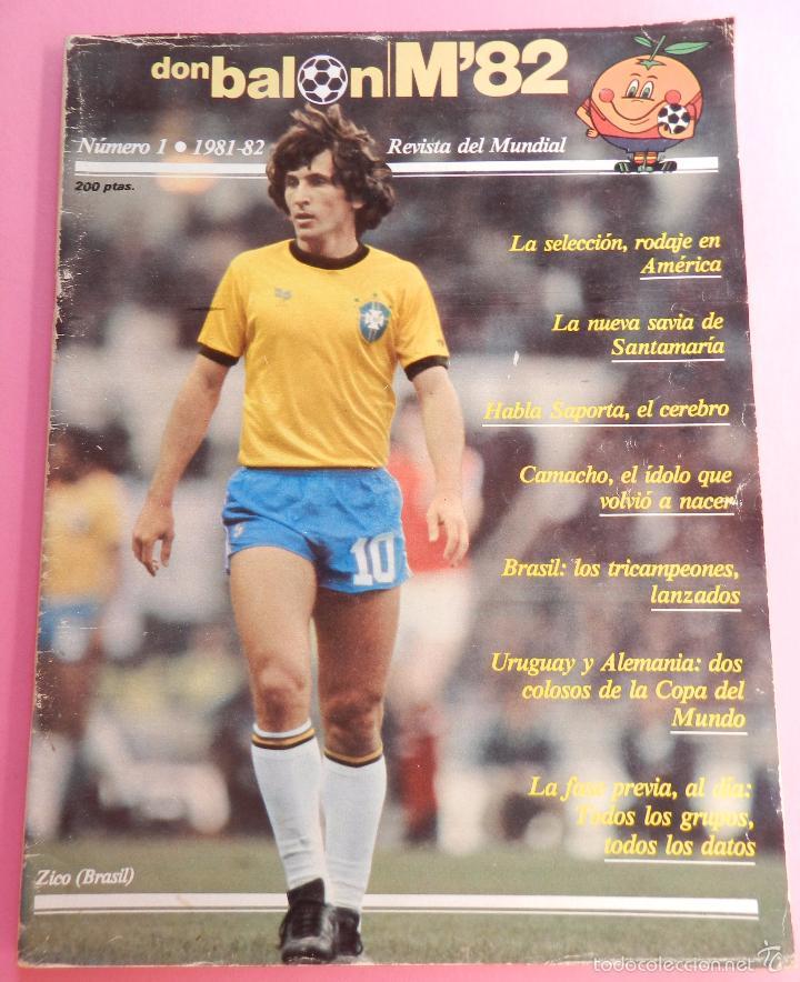REVISTA DON BALON EXTRA MUNDIAL 1982 Nº 1 ESPAÑA 82 POSTER BRASIL ESPECIAL WORLD CUP M82 WC (Coleccionismo Deportivo - Revistas y Periódicos - Don Balón)