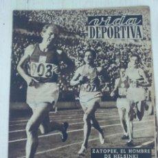 Collectionnisme sportif: VIDA DEPORTIVA .- Nº 359 AÑO IX .- 1952 .- ZATOPEK EL HOMBRE DE HELSINKI !!. Lote 57799958