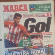 Coleccionismo deportivo: MARCA 18/DICIEMBRE/1995 CAMINERO PORTADA VALENCIA 0 - ATLETICO 1 | RAYO 0 - DEPORTIVO 6. Lote 57806080