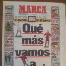 Coleccionismo deportivo: MARCA 7/DICIEMBRE/1996 REAL MADRID - BARCELONA PREVIA. Lote 57808693