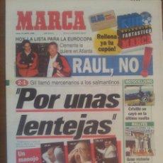 Collectionnisme sportif: MARCA 13/MAYO/1996 JESÚS GIL LLAMA MERCENARIOS AL SALAMANCA   ATLETICO 2 - SALAMANCA 1  CARLOS SAINZ. Lote 57808807