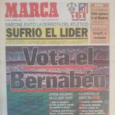 Coleccionismo deportivo: MARCA 14/ENERO/1996 ALBACETE 1 - ATLETICO 1   PREVIA REAL MADRID - REAL ZARAGOZA. Lote 57809465