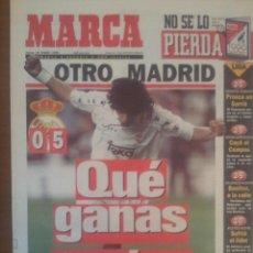 Coleccionismo deportivo: MARCA 25/ENERO/1996 ATHLETIC 0 - REAL MADRID 5 PRIMER PARTIDO DE DEL BOSQUE | ZAMORANO PORTADA. Lote 57809496