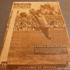Coleccionismo deportivo: (LLL)VIDA DEPORTIVA Nº:188(12-4-49)MARIANO CAÑARDO-9,SEVILLA 1 BARÇA 2,R.MADRID 3 NASTIC 1,. Lote 184379530