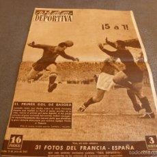 Collectionnisme sportif: VIDA DEPORTIVA Nº:198(21-6-49)EN COLOMBES,FRANCIA 1 ESPAÑA 5 !!!C.F.ARENYS,CASTELLBLANCH.. Lote 57822996
