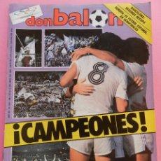 Coleccionismo deportivo: REVISTA DON BALON Nº 545 REAL MADRID CAMPEON LIGA 85/86 - FC BARCELONA RECOPA BASKET 1985/196. Lote 57903493