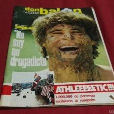 Coleccionismo deportivo: DON BALON NUM. 396 . TENDILLO EN PORTADA Y ESPECIAL ATHLETIC BILBAO CAMPEON LIGA 1983. Lote 57960632