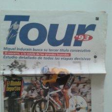 Coleccionismo deportivo: REVISTA GUIA TOUR DE FRANCIA 93 AÑO 1993 EL MUNDO DEPORTIVO MIGUEL INDURAIN. Lote 57968971