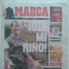 Coleccionismo deportivo: DIARIO MARCA DIA 19 DE AGOSTO 2012 FABRICE EL GOL MAS JOVEN DE LA HISTORIA DE LA LIGA MALAGA FUTBOL. Lote 57997203