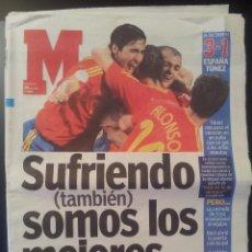 Coleccionismo deportivo: MARCA 20/JUNIO/2006 ESPAÑA 3 - TUNEZ 1 A OCTAVOS - MUNDIAL DE ALEMANIA. Lote 57998845