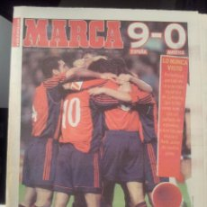 Coleccionismo deportivo: MARCA 28/MARZO/1999 ESPAÑA 9 - AUSTRIA 0. Lote 58015376